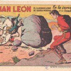 Tebeos: JUAN LEON ORIGINAL Nº 7 EDITORIAL TORAY 1954, POR JOSE GRAU Y FEDERICO AMOROS. Lote 31753660