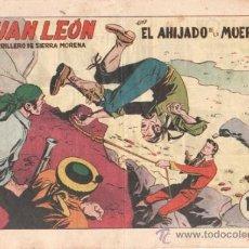 Tebeos: JUAN LEON ORIGINAL Nº 10 EDITORIAL TORAY 1954, POR JOSE GRAU Y FEDERICO AMOROS. Lote 31753680
