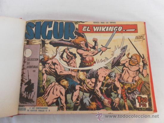 SIGUR EL VIKINGO. COLECCIÓN ENCUADERNADA. SIN GUILLOTINAR. COMPLETA. (Tebeos y Comics - Toray - Otros)