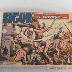 Tebeos: SIGUR EL VIKINGO. COLECCIÓN ENCUADERNADA. SIN GUILLOTINAR. COMPLETA.. Lote 32076423