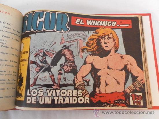 Tebeos: Sigur el Vikingo. Colección encuadernada. Sin guillotinar. Completa. - Foto 3 - 32076423