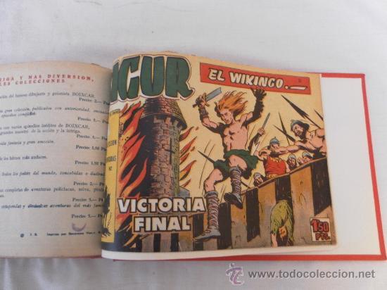 Tebeos: Sigur el Vikingo. Colección encuadernada. Sin guillotinar. Completa. - Foto 4 - 32076423