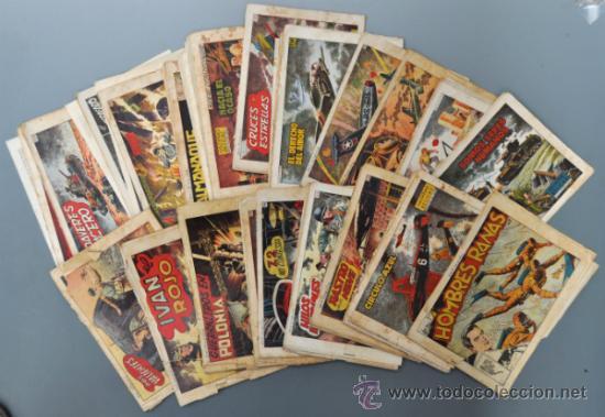 LOTE DE 34 HAZAÑAS BÉLICAS CON 8 EXTRAORDINARIOS Y 1 ALMANAQUE 1956 TORAY (Tebeos y Comics - Toray - Hazañas Bélicas)