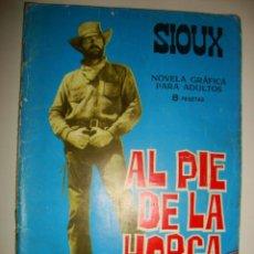 Tebeos: SIOUX NÚMERO 55. CONTRAPORTADA A COLOR DE GILA GOLAN. (1966). Lote 32341284