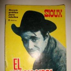 Tebeos: SIOUX NÚMERO 36. CONTRAPORTADA A COLOR DE JUSTINE LORD. (1965). Lote 32341330
