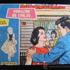 Tebeos: COLECCION ROSAS BLANCAS, CORAZÓN DE VIOLÍN, Nº 258. BIOGRAFIA MARLON BRANDO.. Lote 32773291