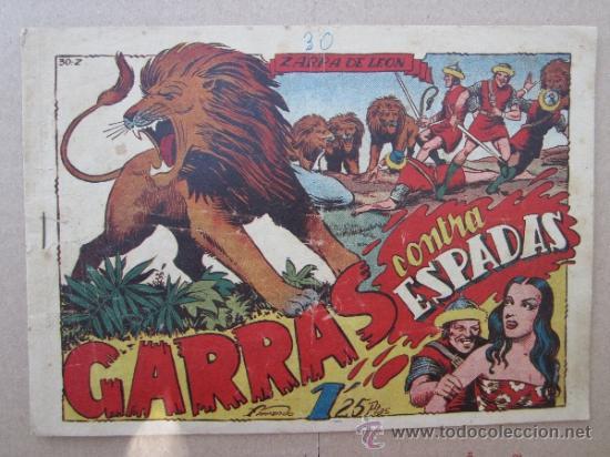 ZARPA DE LEON ,NUMERO 30 , GARRAS CONTRA ESPADAS , EDICIONES TORAY , ORIGINAL (Tebeos y Comics - Toray - Zarpa de León)