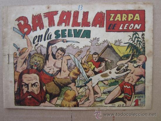 ZARPA DE LEON ,NUMERO 13 , BATALLA EN LA SELVA , EDICIONES TORAY , ORIGINAL (Tebeos y Comics - Toray - Zarpa de León)
