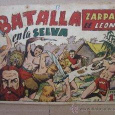Tebeos: ZARPA DE LEON ,NUMERO 13 , BATALLA EN LA SELVA , EDICIONES TORAY , ORIGINAL. Lote 32918614