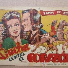 Tebeos: ZARPA DE LEON ,NUMERO 51 LUCHA CONTRA EL CORAZON , EDICIONES TORAY , ORIGINAL. Lote 32918621