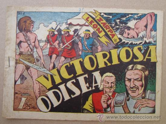ZARPA DE LEON ,NUMERO 31 , VICTORIOSA ODISEA , EDICIONES TORAY , ORIGINAL (Tebeos y Comics - Toray - Zarpa de León)