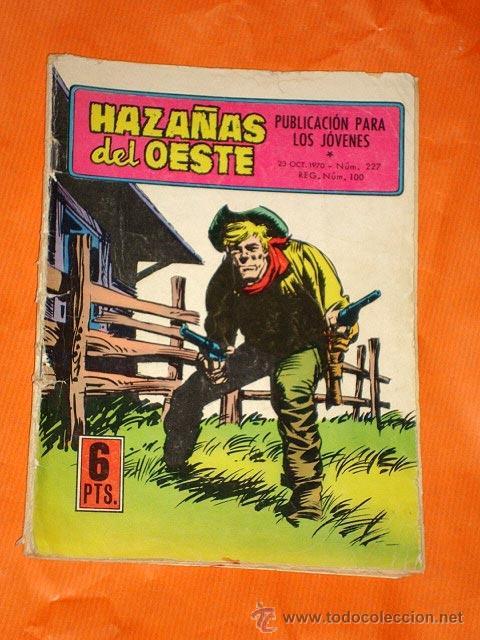 HAZAÑAS DEL OESTE Nº 227. JACK EL NEGRO, LA RECOMPENSA. EDITORIAL TORAY, 1970. +++ (Tebeos y Comics - Toray - Hazañas del Oeste)