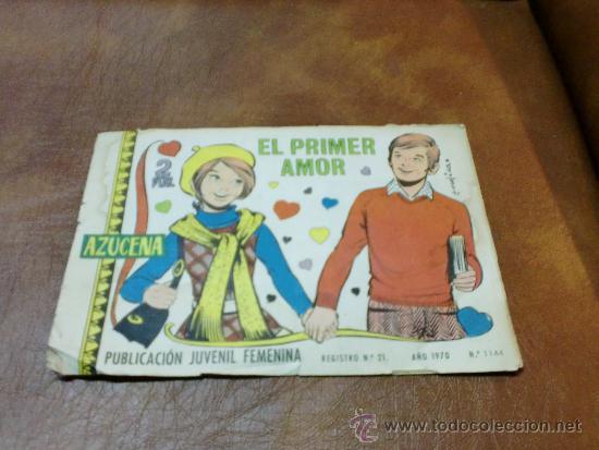 TBO= REV. JUVENIL AZUCENA Nº1144 . EL PRIMER AMOR AÑO 1.970 ORIGINAL (Tebeos y Comics - Toray - Azucena)