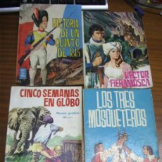 Tebeos: NOVELAS GRÁFICAS CLÁSICAS / LOTE DE 4 NÚMEROS / TORAY 1961. Lote 36142699