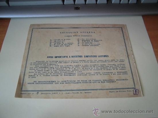 Tebeos: ADORABLE MUCHACHITA COLECCION AZUCENA Nº 32 EDICIONES TORAY - Foto 2 - 36486404