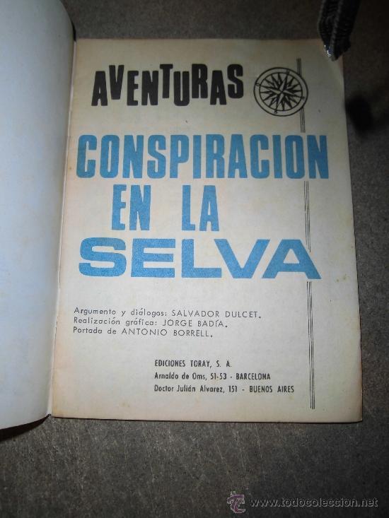 Tebeos: CONSPIRACION EN LA SELVA SALVADOR DUCET EDICIONES TORAY S.A. - Foto 4 - 37139657