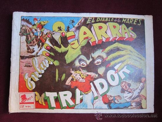 EL DIABLO DE LOS MARES ALBUM Nº 4. EN LAS GARRAS DEL TRAIDOR. TORAY ORIGINAL. 1949 (Tebeos y Comics - Toray - Diablo de los Mares)