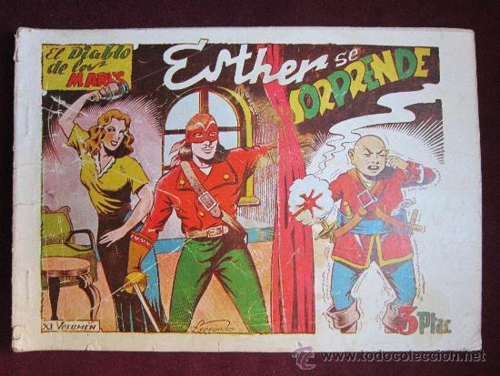 EL DIABLO DE LOS MARES ÁLBUM Nº 11. ESTHER SE SORPRENDE. TORAY ORIGINAL. 1949 TEBENI MUY DIFICIL (Tebeos y Comics - Toray - Diablo de los Mares)