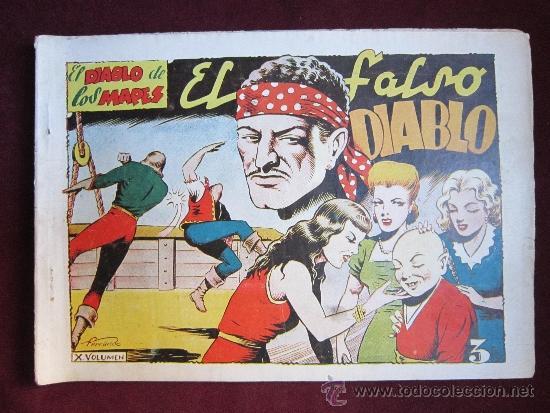 EL DIABLO DE LOS MARES ALBUM Nº 10. EL FALSO DIABLO. TORAY ORIGINAL. 1949 (Tebeos y Comics - Toray - Diablo de los Mares)
