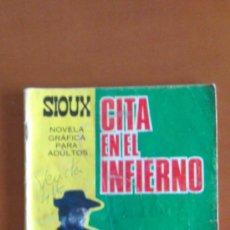 Livros de Banda Desenhada: SIOUX Nº 78 ** CITA EN EL INFIERNO ** ED. TORAY ** CONTRAPORTADA ACTRIZ JEANNE MOREAU. Lote 38751384
