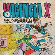 Tebeos: LA AGENCIA X Nº 2, SE NECESITA MAYORDOMO, 32 PAGINAS COLOR. Lote 39529318