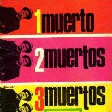 Tebeos: BRIGADA SECRETA 1 MUERTO, 2 MUERTOS, TRES MUERTOS. Lote 39900739