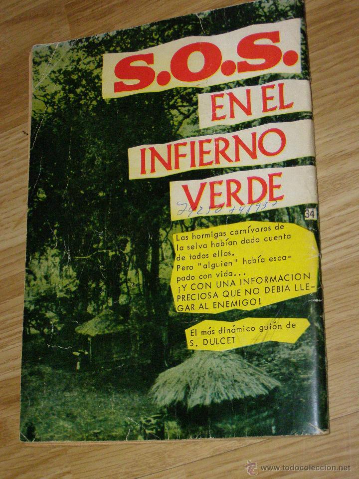Tebeos: ESPIONAJE nº 34 - MORIR EN LA SOMBRA - 8 PTS. - AÑO 1966 - Novela gráfica adultos. - Foto 6 - 40576818