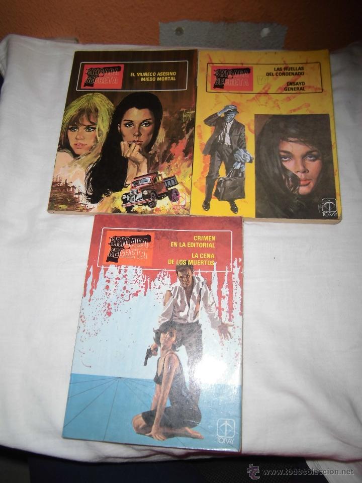 BRIGADA SECRETA TOMOS 1,2 Y 3 EDICIONES TORAY 1982 (Tebeos y Comics - Toray - Brigada Secreta)