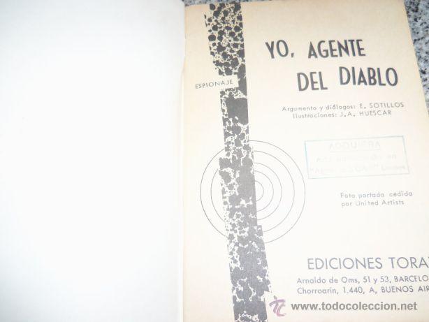 Tebeos: YO, AGENTE DEL DIABLO, por E. Sotillos - Dibujios: J.A. Huéscar - TOTAY - España - 1965 - Foto 2 - 41793122