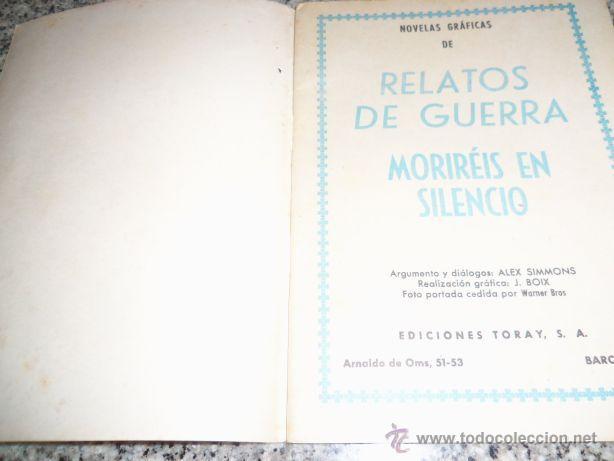 Tebeos: MORIREIS EN SILENCIO, por Alex Simmons - Dibujos: J. Boix - TORAY - España - 1963 - Foto 2 - 41793133