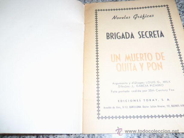 Tebeos: UN MUERTO DE QUITA Y PON, por Louis Milk - Dibujos: J.García Pizarro - TORAY - España - 1965 - Foto 2 - 41793151