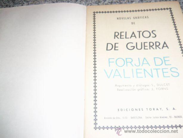 Tebeos: FORJA DE VALIENTES/ Serie Relatos de Guerra, por S. Dulcet - Dibujos: J. Forns - España - 1966 - Foto 2 - 41793158