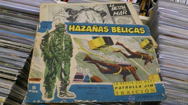 Tebeos: Lote de 5 numeros de Azañas belicas 5 pts numeros 98-125-159-207 1965 1958 - Foto 2 - 41858910
