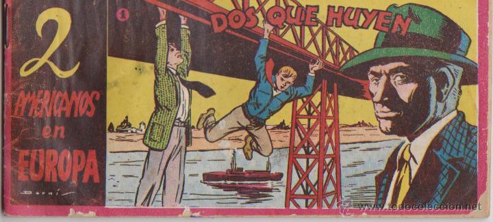 2 AMERICANOS EN EUROPA ***NÚMERO 1***AÑO 1952**ILUSTRACIONES DARNIS (Tebeos y Comics - Toray - Otros)