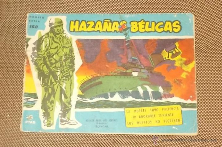 HAZAÑAS BELICAS. LA MUERTE TUVO PACIENCIA. NUMERO EXTRA 168. EDICIONES TORAY. 1958 (Tebeos y Comics - Toray - Hazañas Bélicas)