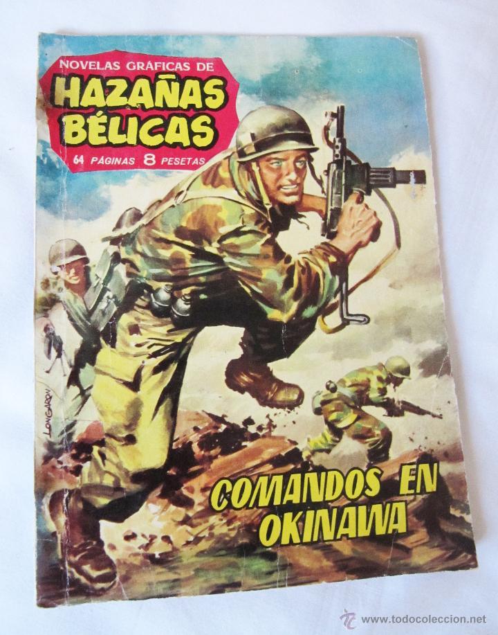 COMANDOS EN OKINAWA - HAZAÑAS BELICAS - 1962 - BUEN ESTADO (Tebeos y Comics - Toray - Hazañas Bélicas)