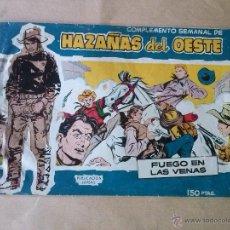 Tebeos: HAZAÑAS DEL OESTE , COMPLEMENTO SEMANAL Nº 2 TORAY. Lote 184432473