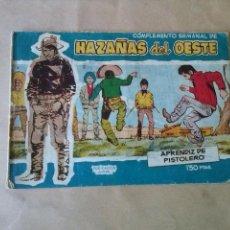 Tebeos: HAZAÑAS DEL OESTE , COMPLEMENTO SEMANAL Nº 13 -TORAY. Lote 43676755
