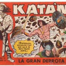 BDs: KATAN. Nº 44. LA GRAN DERROTA. ORIGINAL. EDICIONES TORAY 1958(C/A3). Lote 45979911