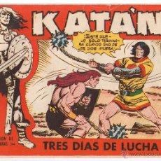 BDs: KATAN. Nº 41. TRES DIAS DE LUCHA. ORIGINAL EDICIONES TORAY 1958. Lote 45979956