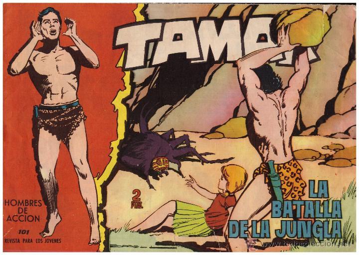 COMIC TAMAR, Nº 101; ED. TORAY - ORIGINAL, AÑO 1961 (Tebeos y Comics - Toray - Tamar)