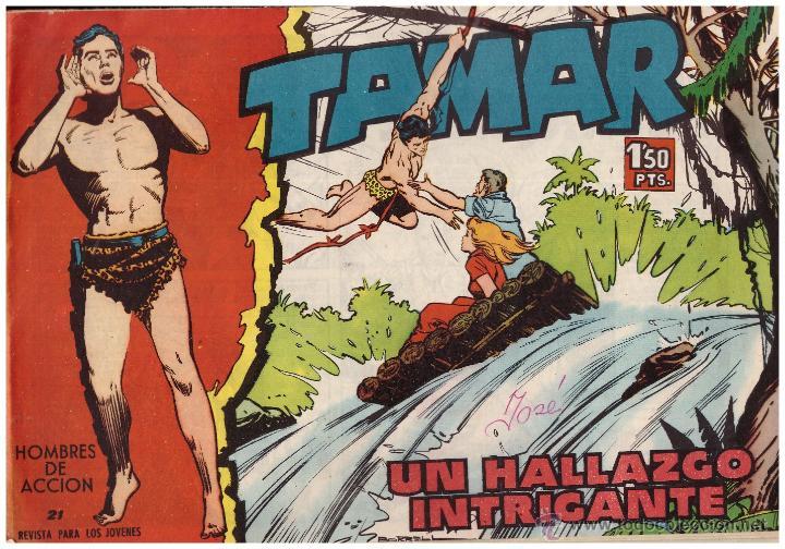 COMIC TAMAR, Nº 21; ED. TORAY - ORIGINAL, AÑO 1961 (Tebeos y Comics - Toray - Tamar)