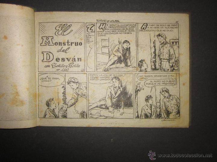 Tebeos: HOJAS DE LA VIDA DE TOÑITO Y LOLITA - NUM 4 -EDICIONES TORAY - DIBUJOS JAIME JUEZ - (COM- 289) - Foto 2 - 46593472