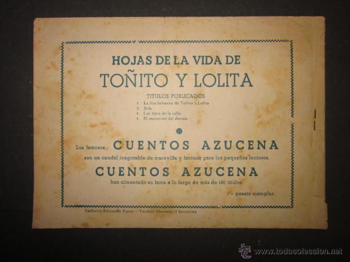Tebeos: HOJAS DE LA VIDA DE TOÑITO Y LOLITA - NUM 4 -EDICIONES TORAY - DIBUJOS JAIME JUEZ - (COM- 289) - Foto 7 - 46593472