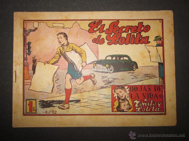 HOJAS DE LA VIDA DE TOÑITO Y LOLITA - NUM 5 -EDICIONES TORAY - DIBUJOS JAIME JUEZ - (COM- 290) (Tebeos y Comics - Toray - Otros)