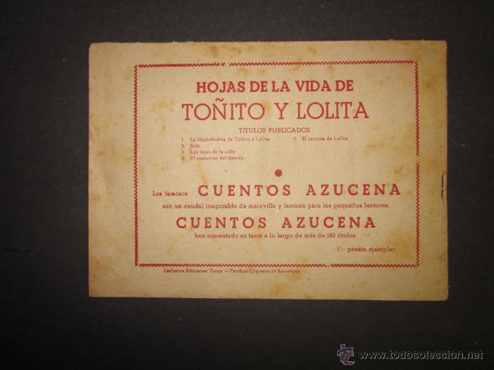 Tebeos: HOJAS DE LA VIDA DE TOÑITO Y LOLITA - NUM 5 -EDICIONES TORAY - DIBUJOS JAIME JUEZ - (COM- 290) - Foto 7 - 46593478
