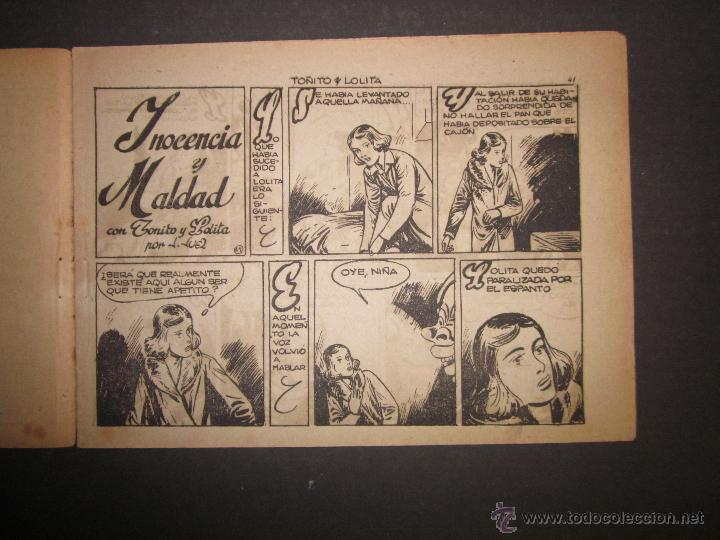 Tebeos: HOJAS DE LA VIDA DE TOÑITO Y LOLITA - NUM 6 -EDICIONES TORAY - DIBUJOS JAIME JUEZ - (COM- 291) - Foto 2 - 46593501