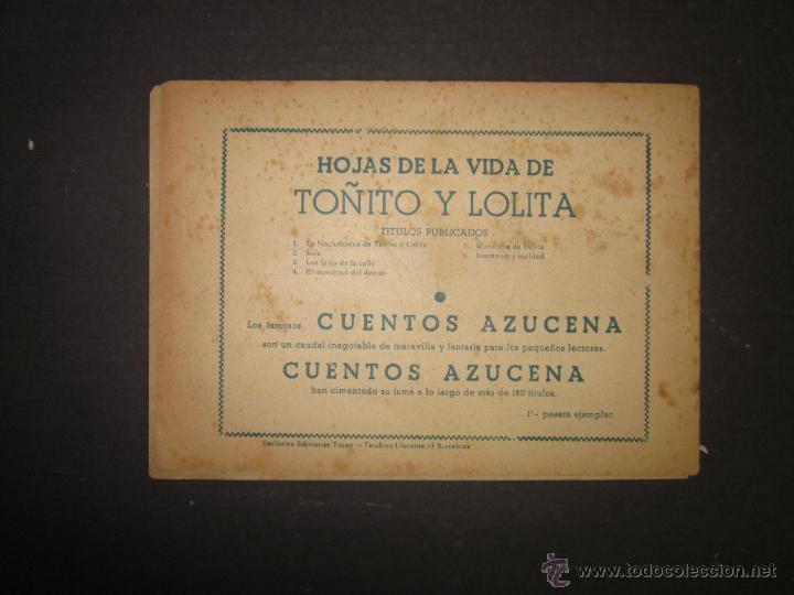 Tebeos: HOJAS DE LA VIDA DE TOÑITO Y LOLITA - NUM 6 -EDICIONES TORAY - DIBUJOS JAIME JUEZ - (COM- 291) - Foto 7 - 46593501