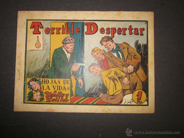 HOJAS DE LA VIDA DE TOÑITO Y LOLITA - NUM 8 -EDICIONES TORAY - DIBUJOS JAIME JUEZ - (COM- 293) (Tebeos y Comics - Toray - Otros)