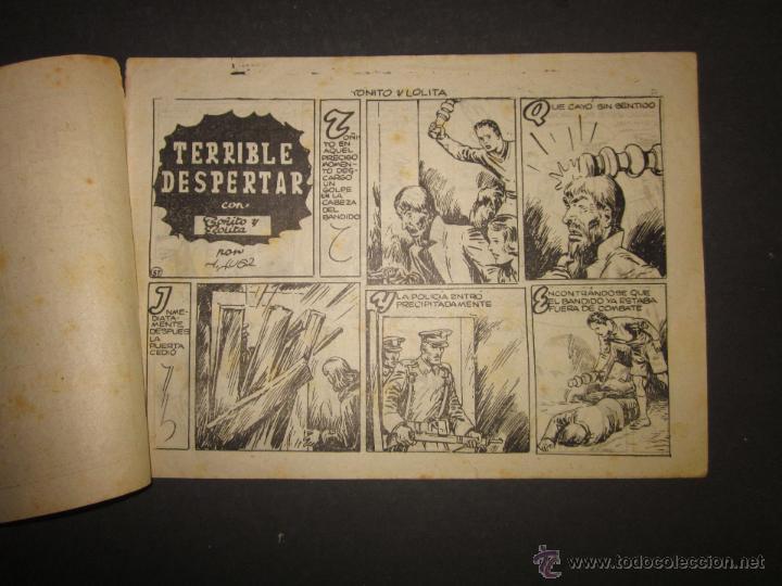 Tebeos: HOJAS DE LA VIDA DE TOÑITO Y LOLITA - NUM 8 -EDICIONES TORAY - DIBUJOS JAIME JUEZ - (COM- 293) - Foto 2 - 46593539